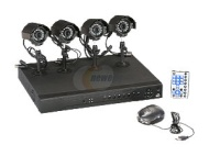 Vonnic DKSY0804D 8 channel + 4 Sony CCD Bullet Cameras 12 IR LED H.264 High performance DVR Remote Monitoring/Real time record display/CMS/ with 500GB