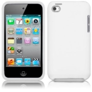 White Xylo Hybrid Armor Hard Shell / Skin / Case for the Apple iPod Touch 4 4G MP3 Player (8GB 32GB 64GB).