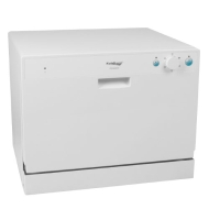 Koldfront 6 Place Setting Countertop Dishwasher - White