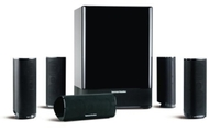 Harman Kardon HKTS-18 High-Performance, 6-Piece Home Theater Speaker System (Black Gloss)