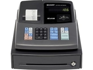 Sharp Cash Register - 80 PLUs - 4 Clerks - 8 Departments XEA106