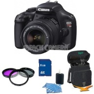 Canon EOS Rebel T3 SLR Digital Camera w/ 18-55mm Lens 32 GB Memory Kit