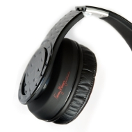 Fanny Wang Headphones Co. Over Ear Active Noise Cancelling Headphones with Remote, Black, (FW-3001-BLK-BLK)