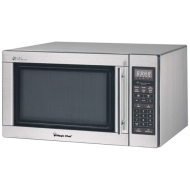 Magic Chef 1.6 Cu Ft Countertop Microwave Stainless Steel MCD1611ST