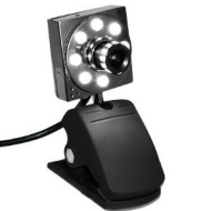 eSecure - USB 8MP 8 LED Web Cam Webcam mit Mikrofon