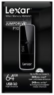 Lexar 64GB 260MB/s JumpDrive P10 USB 3.0 Flash Drive Memory Stick - Black