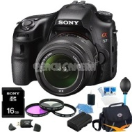 Sony Alpha SLT-A57K 16.1 MP Digital SLR Kit w/ 18-55mm , 75-300 Ultimate Bundle