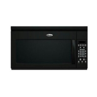 Whirlpool MH2175XSB - Microwave oven with built-in exhaust system - over-range - 48 litres - 1000 W - black