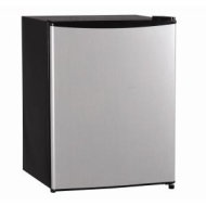 Magic Chef 2.4 cu ft Stainless Refrigerator with Manual Defrost
