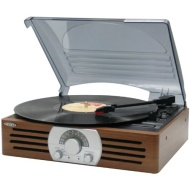 Jensen - 3-Speed Stereo Turntable - Brown