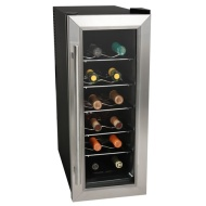 Koldfront 12 Bottle Stainless Steel Slim-Fit Thermoelectric Wine Cooler