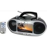 "Naxa NDL-252 Portable DVD Boom Box With a built-in 7"" LCD screen"