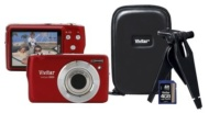 Vivitar 16 MP/5x Zoom Red Camera Bundle