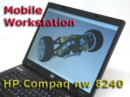 HP Compaq Mobile Workstation Nw8240