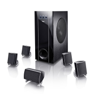 Teufel Concept E 400 &quot;5.1-Set&quot; Schwarz PC/Multimedia-Lautsprecher-Set