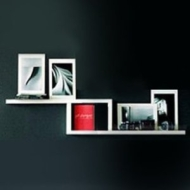 ZIGZAG - Wall Storage / Display Shelf - White