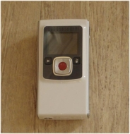 Flip Video Ultra - Camcorder - 0.31 Mpix - flash card - white