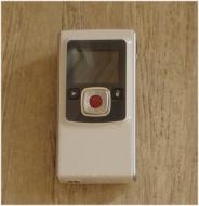 Flip Video Ultra - Camcorder - 0.31 Mpix - flash card - white