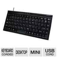 Gear Head KB1700U Mini Windows Keyboard - USB 89 Keys Black New