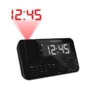 "Magnasonic Projection Clock Radio Battery Backup Alarm 1.2"" LED Auto Time Set Dual Alarm"