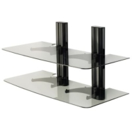 Sanus VF2012 - Vertical A/V Series Single Column, 2-shelf on-wall component shelving