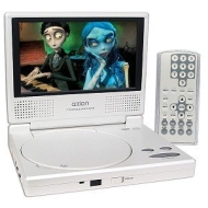 Axion LMD-6708RY 7-Inch Widescreen Portable DVD Player (White)