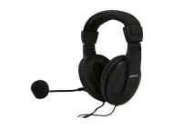 Inland Multimedia Headphones, Black