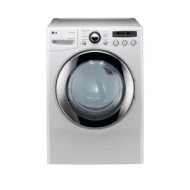 LG - SteamDryer 7.3 Cu. Ft. 9-Cycle Ultra-Large Capacity Steam Gas Dryer - White