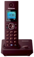 Panasonic KX TG7851GR DECT cordless telephone (3.7 cm (1.5 inches) TFT display) vine red