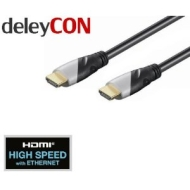 deleyCON HDMI Kabel 1.4a High Speed with Ethernet - [1m] - 3D Ready - Audio Rückkanal [1 meter]