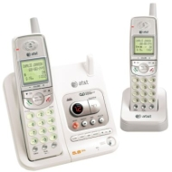 AT&T 5.8GHz Cordless Phone System w/ Dual Handsets & Digital Answering System