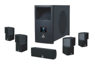 Pyle Home PHSA5 5.1 Home Theater System With Active Subwoofer and Five Satellite Speakers(,5)