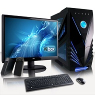 "VIBOX Ultra Package 11W - Quad Core, Home, Office, Family, Gaming PC, Multimedia, Desktop PC, Computer Full Package with Windows 8.1, 22"" Monitor, Spe"