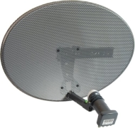 Zone 1 Dish and Quad LNB for Sky and Freesat HD