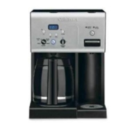 Cuisinart - 12-Cup Coffeemaker with Instant Hotwater Dispenser - Programmable - Black CHW-12