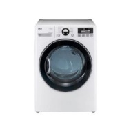 LG - SteamDryer 7.3 Cu. Ft. 12-Cycle Ultra-Large Capacity Steam Electric Dryer - White DLEX3470W