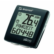 Sigma Bc1609 13 Function Wired Cycling Computer - Black