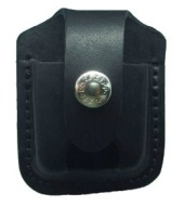 Zippo Lighter Pouch with Loop and Thumb Notch, Black
