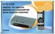 Craig CVD508 Broadcast Converter Box with RC