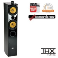 Crystal Acoustics TX-T2 Special Edition Stereo front tower speaker (1 unit) - Black gloss & Black Ash