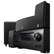Denon DHT-1312BA A/V Home Theater Receiver with Boston Acoustics MCS 160 5.1 Surround Speaker System