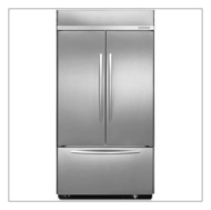 KitchenAid 22.6 cu. ft. Built-In French-Door Bottom Freezer Refrigerator Stainless steel