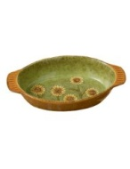 Grasslands Road Indian Summer Sunflowerau Gratin Dish, 1-3/4-Inch by 9-Inch by 5-1/4-Inch