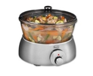 5 Litre Glass Slow Cooker - Grey
