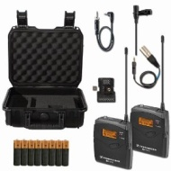 Sennheiser EW112P G3 A-Band Wireless Lav Mic Bundle with SKB Hard Case and Extra Batteries