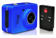 Sound Around GDV285BL HD Video Recording Gear Pro HD Sport Action Camera, 720p Wide-Angle Camcorder with 2.0 Touch Screen SD Card Slot, USB Plug And M