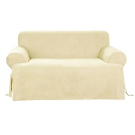 Sure Fit Scroll 1-Piece Sofa Slipcover, Brown