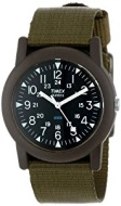 Timex T18581 Analog Quartz Movement Camper Black Watch Green