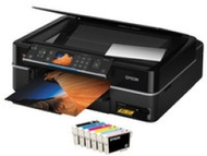 Stylus Photo TX700W Inkjet Multifunction Printer - Color - Photo Print - Desktop (Printer, Scanner, Copier - 38 ppm Mono/38 ppm Color Print - 10 Secon