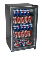 HC125FVS 125-Can Beverage Refrigerator (Black)